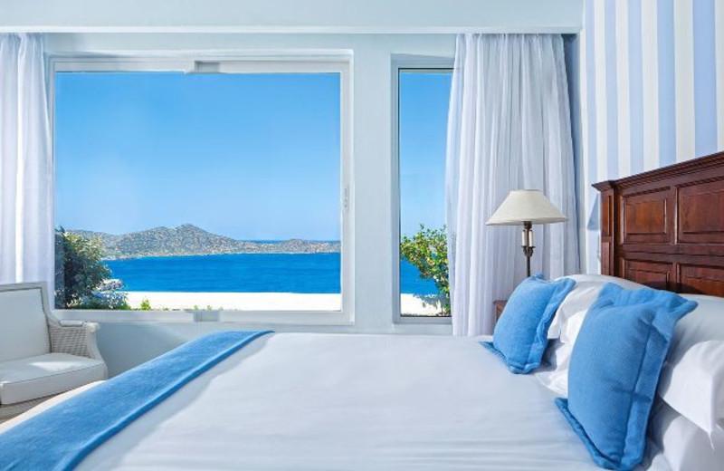 Guest room at Elounda Gulf Villas & Suites.