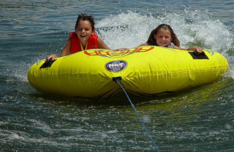 Water tubing at Paradise Cove Marine Resort.