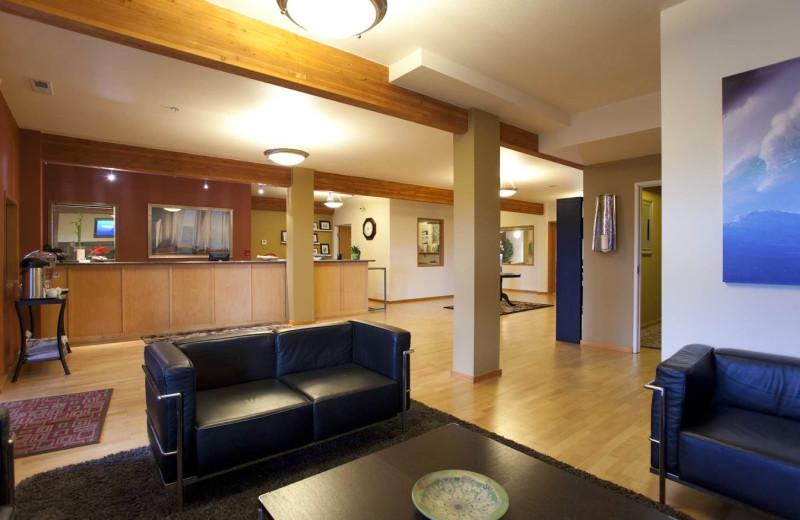 Lobby view at Inn at Wecoma Lincoln City.