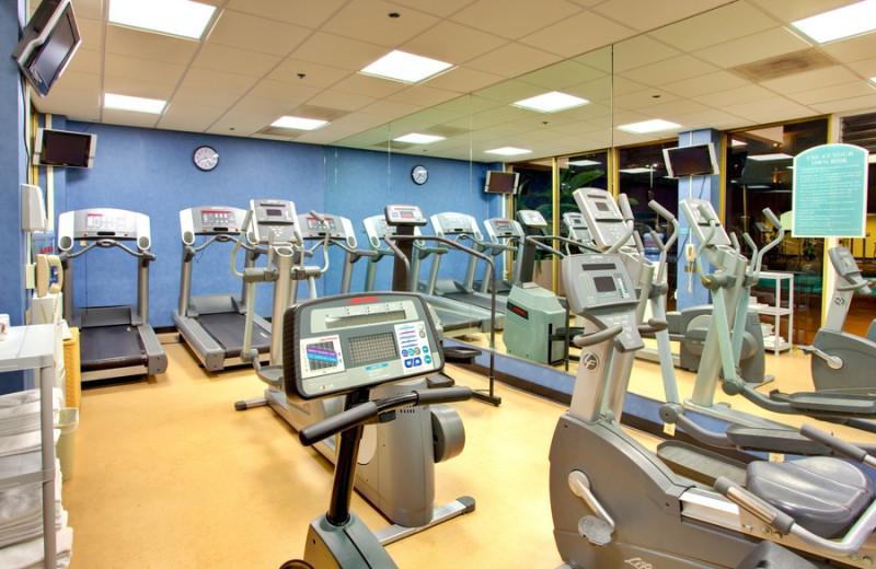 Fitness room at Wyndham San Diego Bayside.