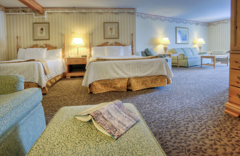 Guest room with two beds at Lake Morey Resort.