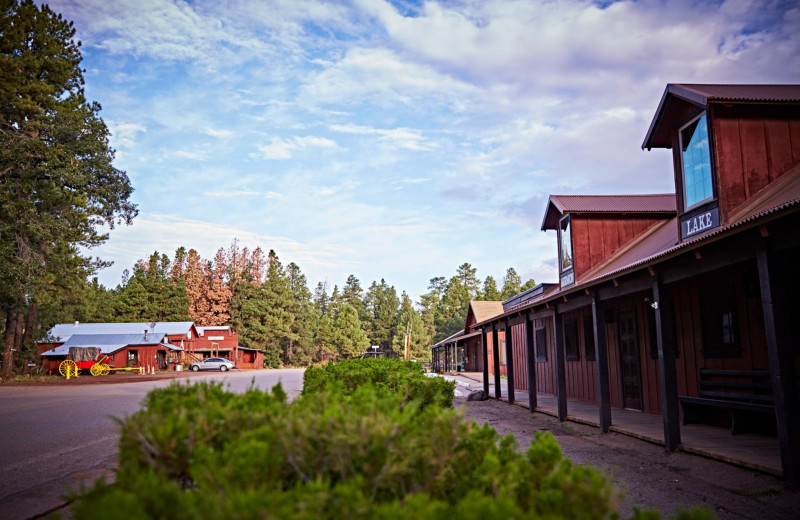 Exterior view of Mormon Lake Lodge.