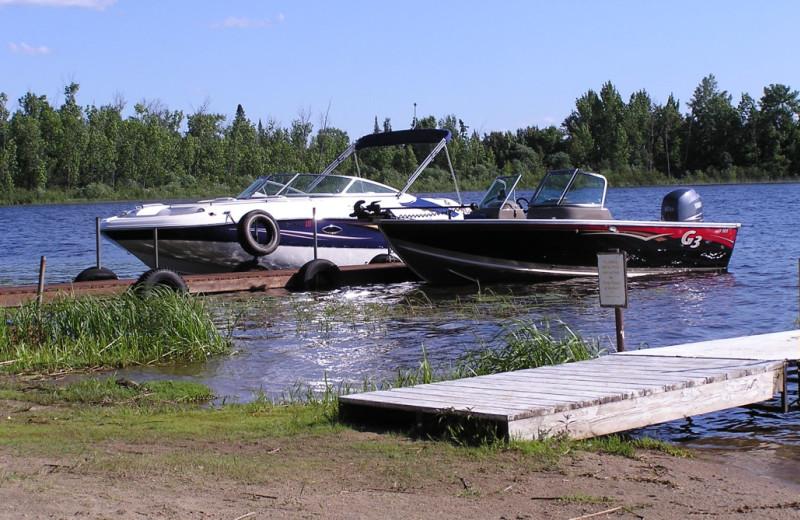 Boats at Kokomo Resort.