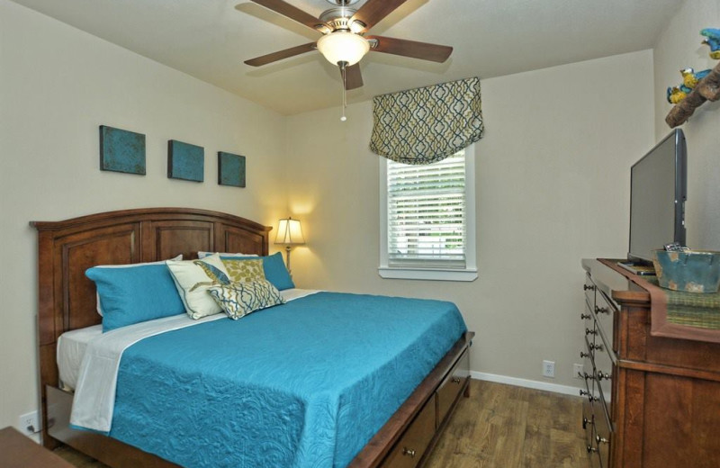Rental bedroom at River City Resorts.