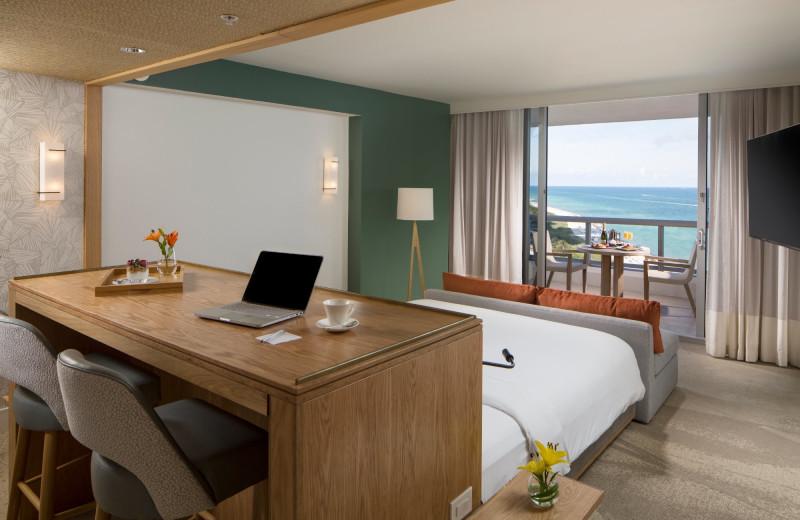 Guest room at Eden Roc Miami Beach.