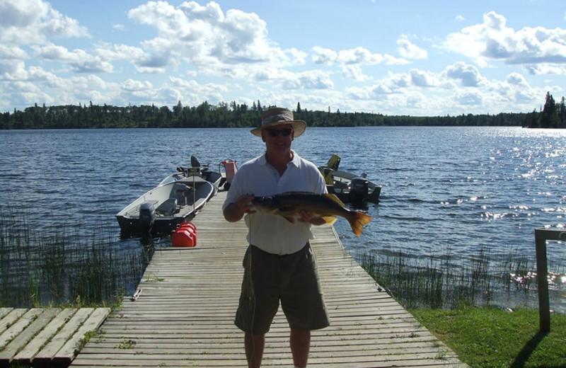 Fishing at Big Canon Lake Lodge