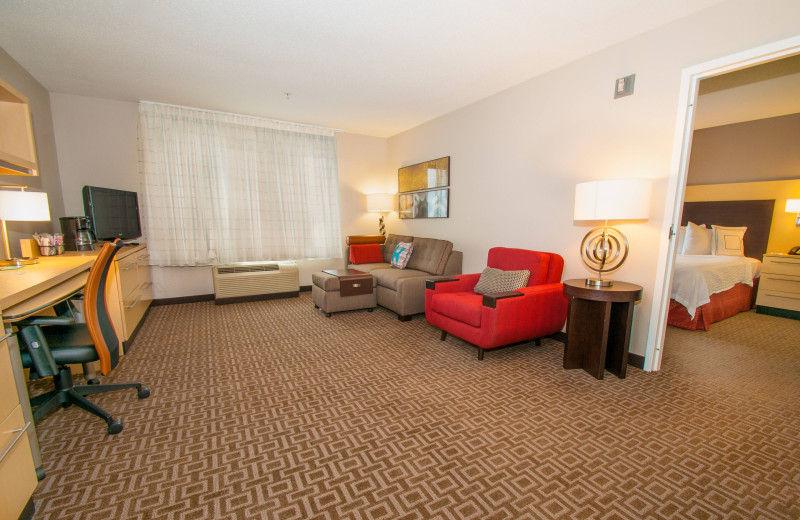 Guest room at TownePlace Suites Scranton Wilkes-Barre.