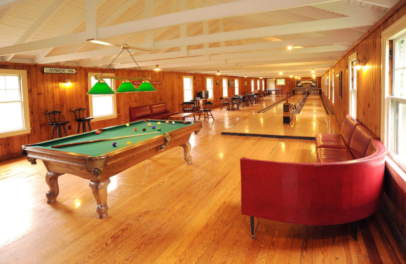 Bowling alley at Newagen Seaside Inn.