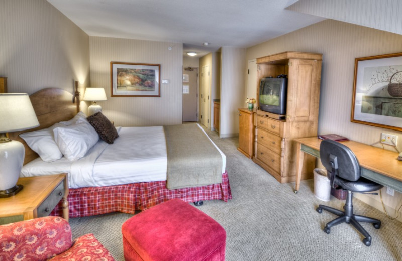 Guest room at St. Eugene Golf Resort & Casino.