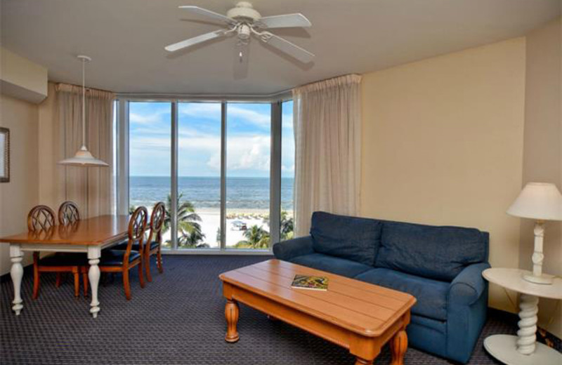Rental living room at Tri Power Resort Rentals.