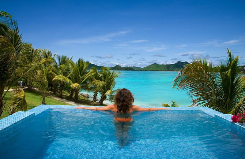 Beach view at Cocobay Resort.