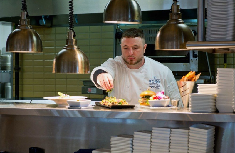 Chef preparing meals at The King and Prince Beach & Golf Resort.