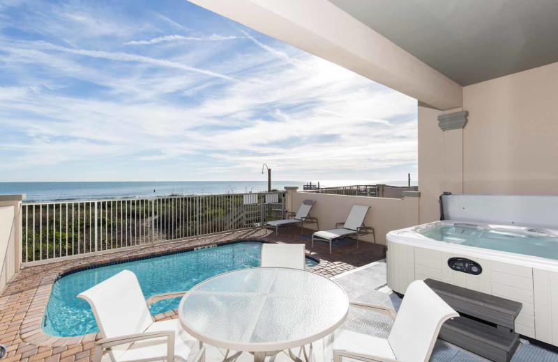 Rental balcony at Padre Island Rentals.