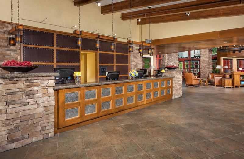 Lobby at Bear Creek Mountain Resort.
