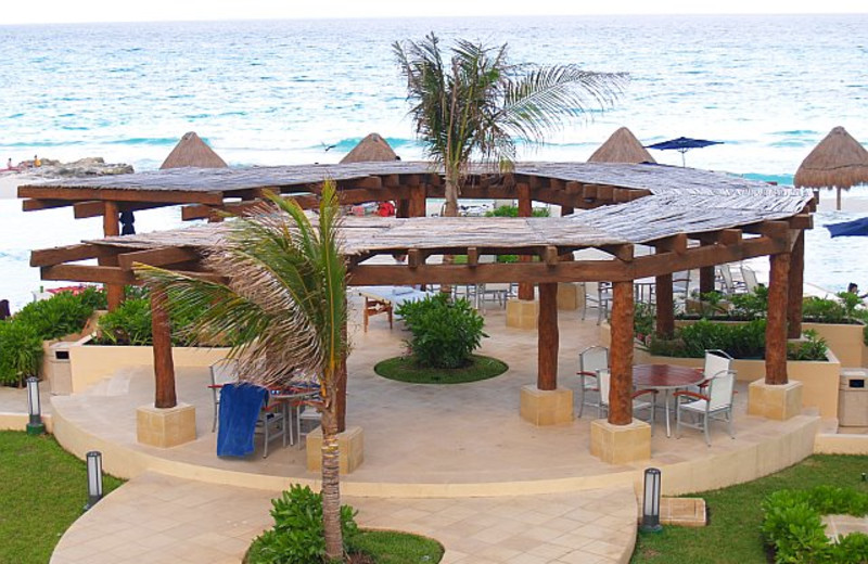 Patio at Bay View Grand Cancun.