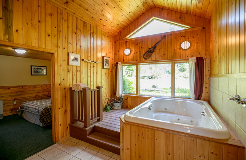 Guest hot tub at Gunflint Lodge.