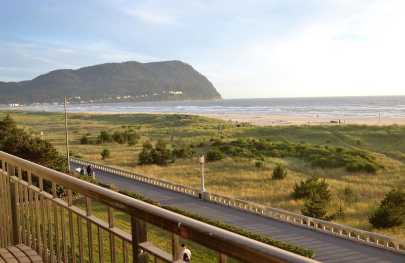 Rental balcony at Beachhouse Vacation Rentals.