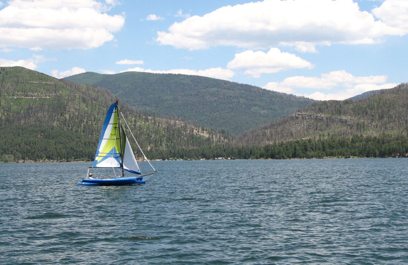 Sailing at Pine River Lodge.