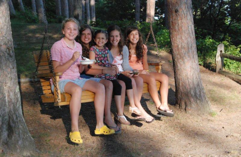 Family fun at Chimney Corners Resort.