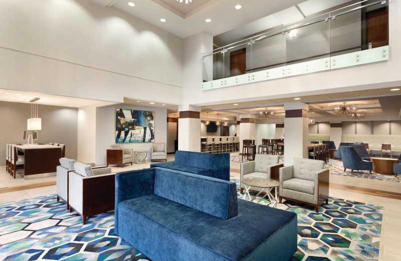 Lobby at Radisson Hotel Dallas North Addison.