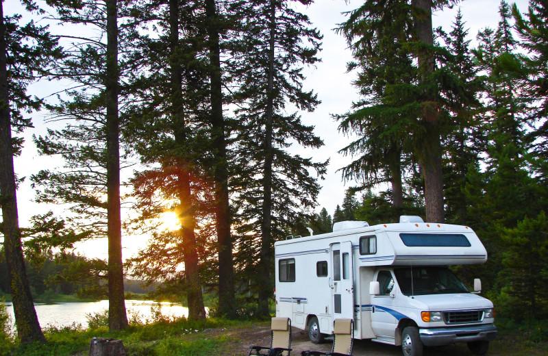 RV camping at Meeks Bay Resort.