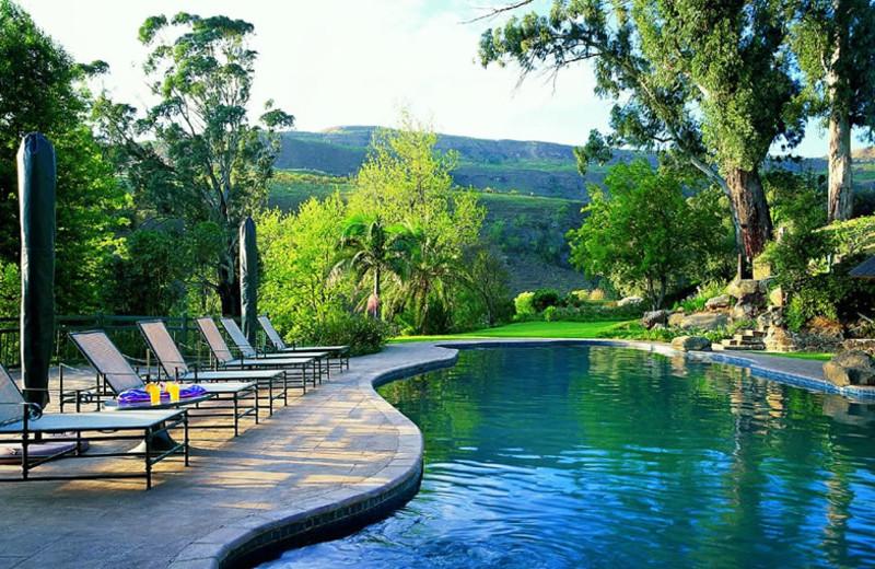 Outdoor pool at The Cavern Drakensberg Resort.