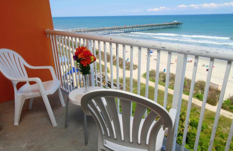Balcony view at Bar Harbor Motor Inn.