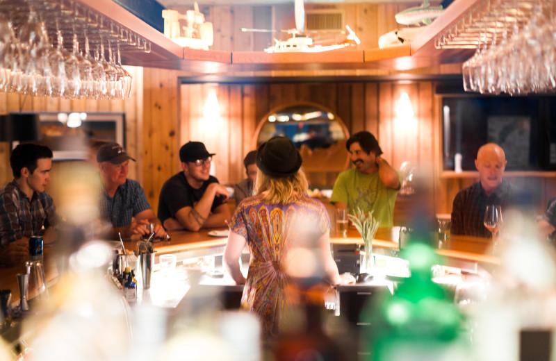Dining at CMH Bugaboos Lodge.