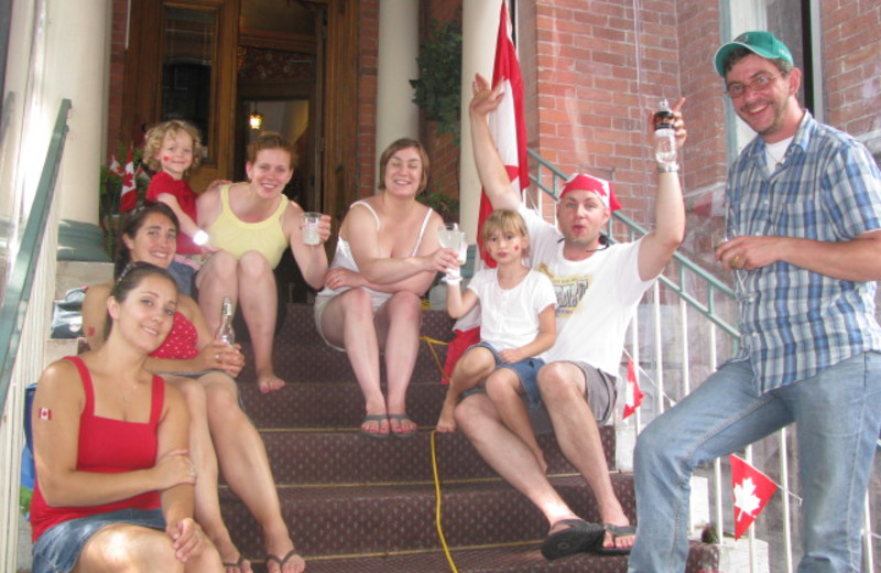 Family at McGee's Inn.