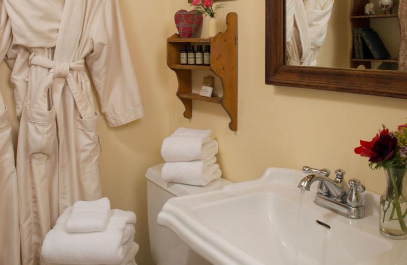 Guest bathroom at Olde Rhinebeck Inn.