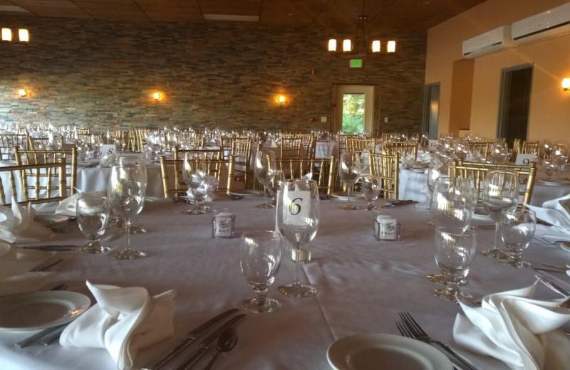 Wedding reception at The Woods At Bear Creek Glamping Resort.