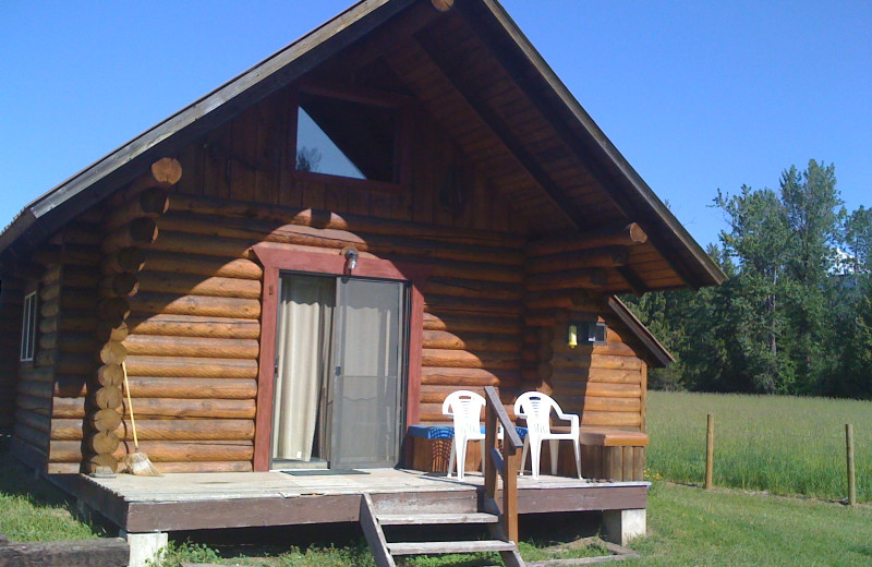 Cabin exterior at Clark Fork Outfitters.