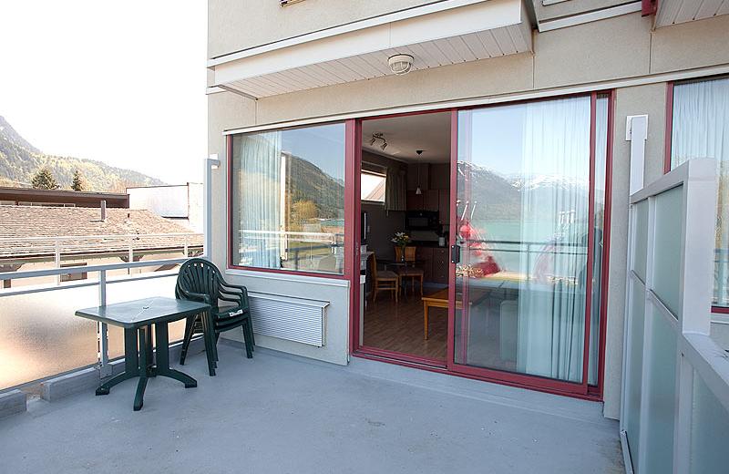 Balcony view at Harrison Beach Hotel.