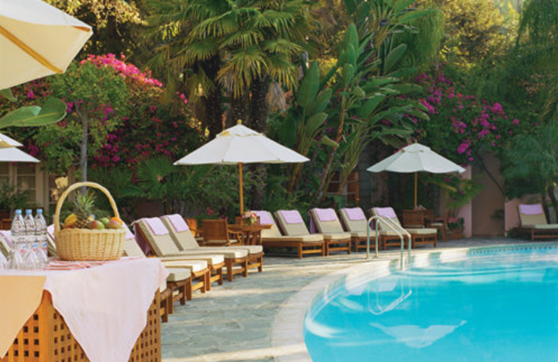 Outdoor pool at Hotel Bel-Air.