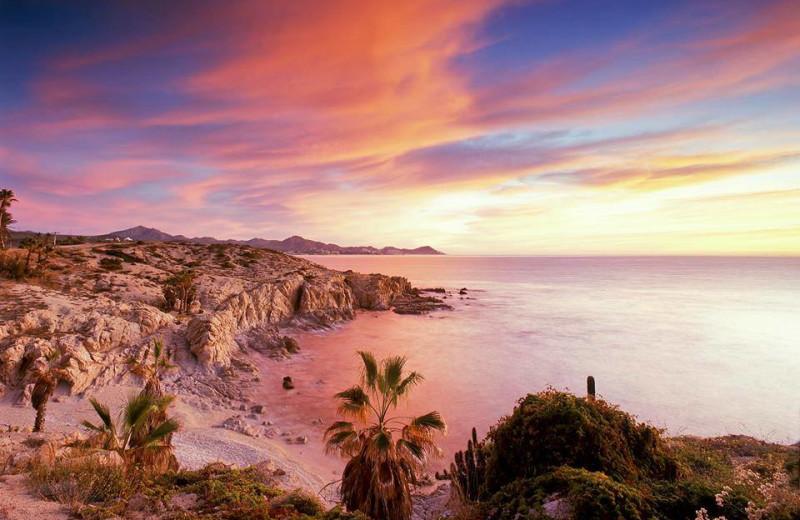 Beach sunset at Luxury Villa Collections.