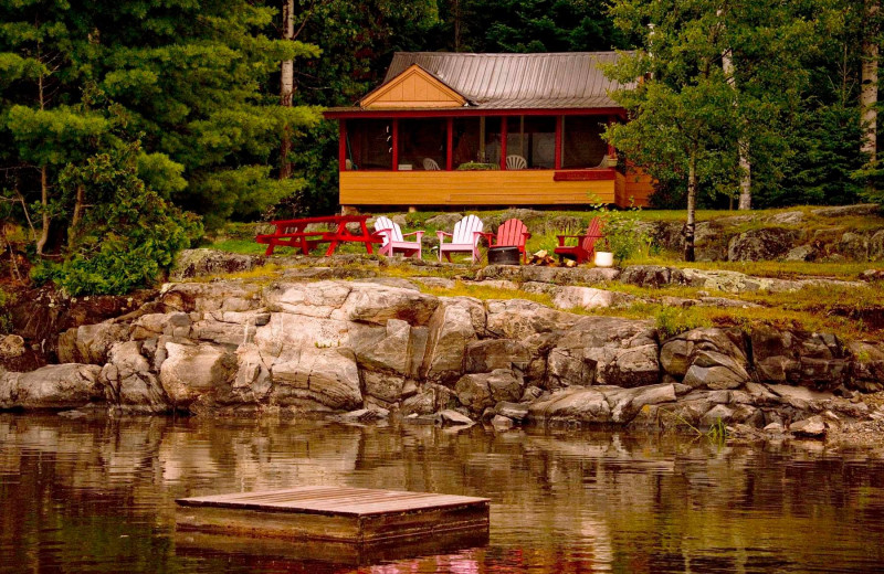 Exterior view of Island Lake Camp.