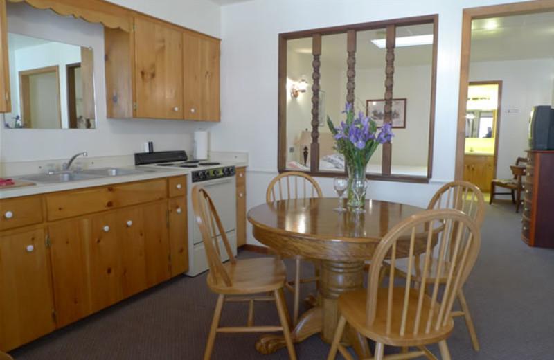 Cabin kitchen at Boulder Mountain Lodge