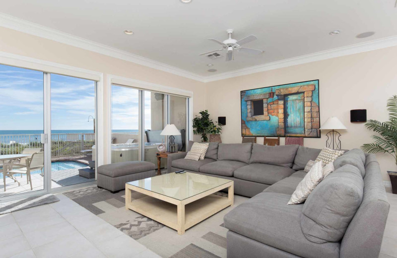 Rental living room at Padre Island Rentals.