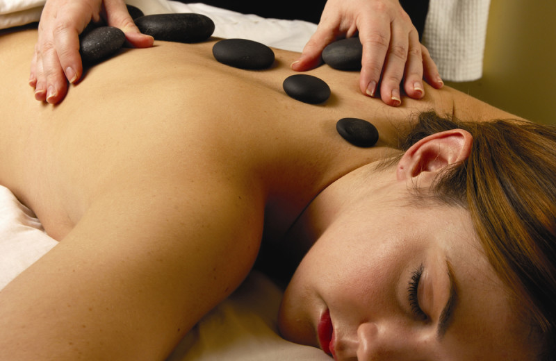 Stone massage at The Spa at Norwich Inn.