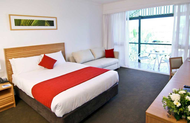 Guest room at Novotel Twin Waters Resort.