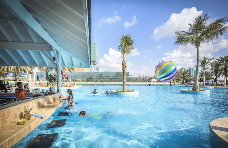 Outdoor pool at Beach Rotana Hotel.