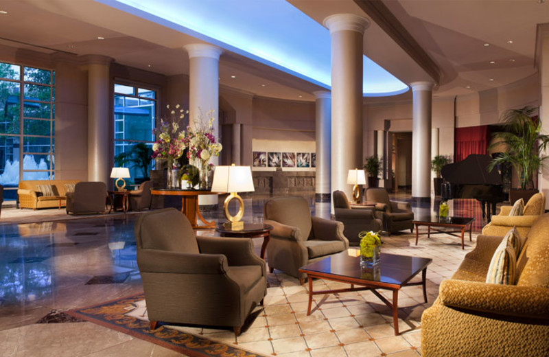 Lobby view at Omni Dallas Hotel at Park West.
