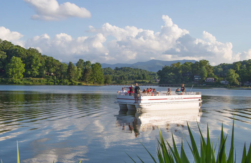 Boat tours are offered during the summer at Lake Junaluska Conference and Retreat Center.