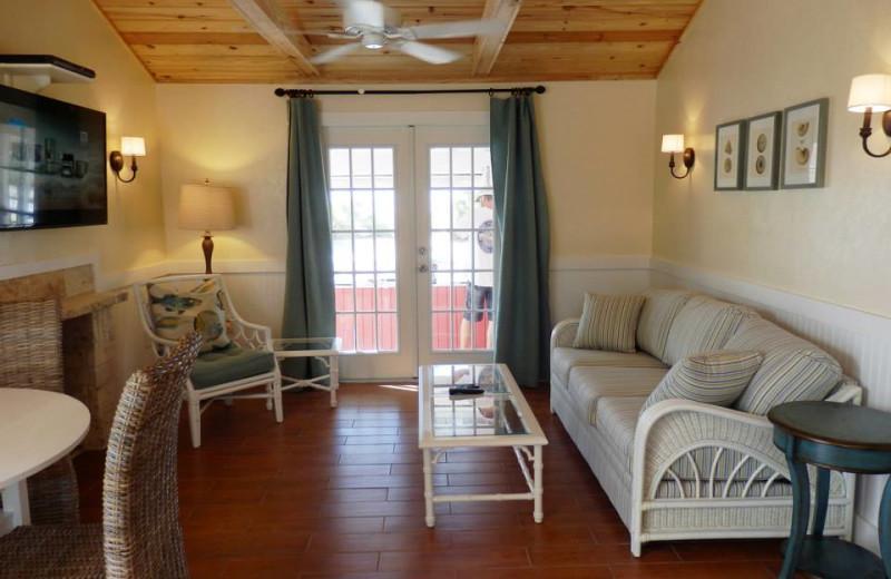 Cottage living room at Castaways At Blind Pass.