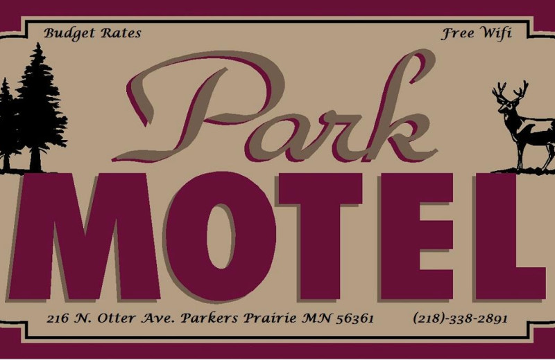 Sign at Park Motel.