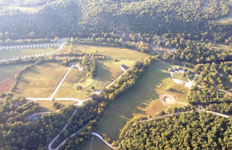 Aerial view of Riverwood Resort.