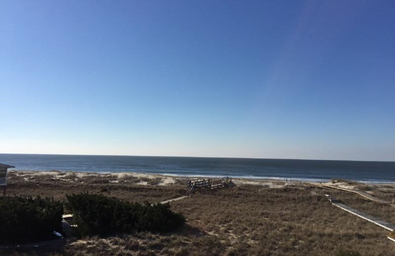 Beach view at Mary Munroe Realty: Bald Head Vacations & Sales.