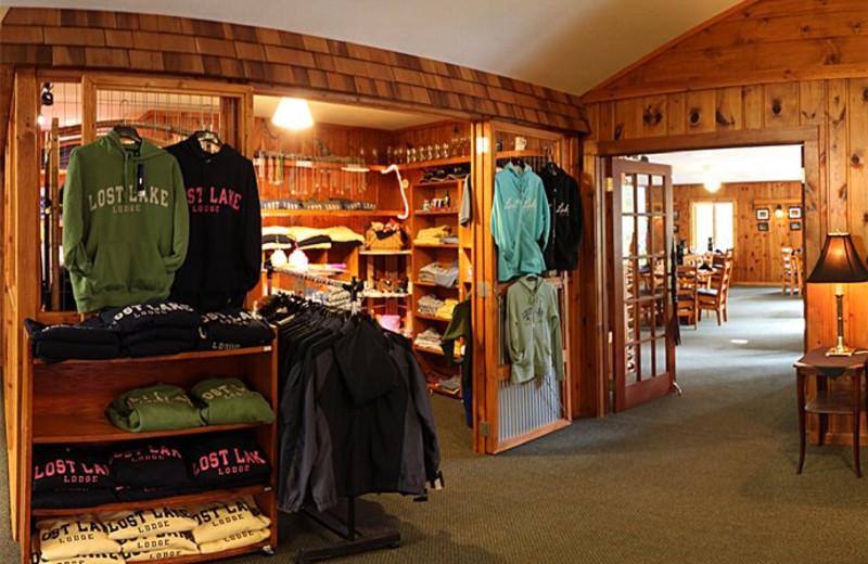Gift shop at Lost Lake Lodge.