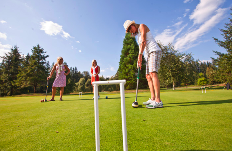 Outdoor games at The Resort at the Mountain.