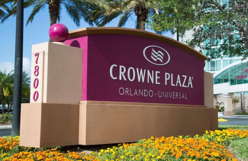 Exterior Sign at Crowne Plaza Orlando Universal Hotel